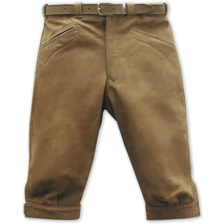 Kniebundlederhose Kinder TOMMY Rind-Kernvelour, grau Kinder 134 (+65%) in Lederfarbe